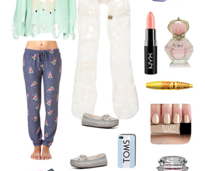 outfit, pajamas, and Polyvore image