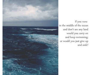 ocean, quote, and poem image