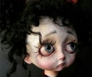 big eyes, cool, and doll image