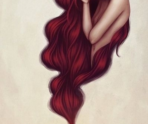 ariel, mermaid, and red hair image