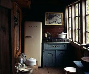 cabin, kitchen, and winter image