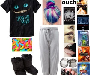 chilling, Polyvore, and sleepwear image