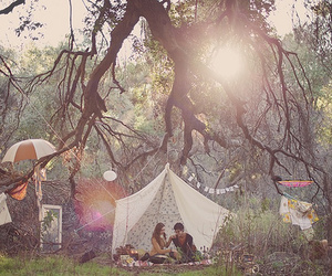love, couple, and tent image