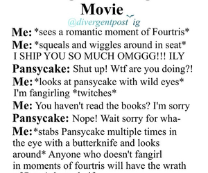 four, tobias, and fangirl image