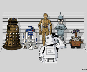 funny, wall-e, and r2d2 image