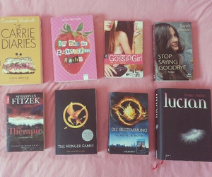 book, gossip girl, and the hunger games image