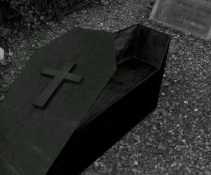 coffin, dead, and death image