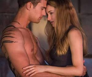 divergent, theo james, and beatrice prior image