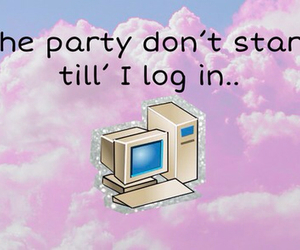 computer, tumblr, and party image