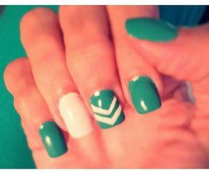 chevron, green, and manicure image
