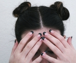 hair, grunge, and nails image