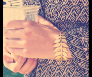 bracelet, fashion, and gold image