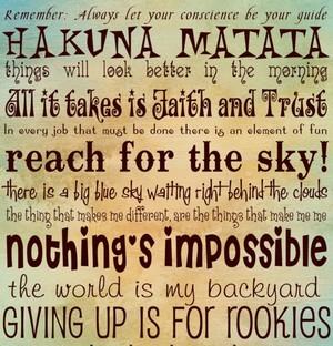 quote, disney, and hakuna matata image