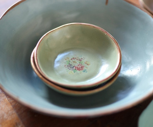 art, pottery, and bowls image