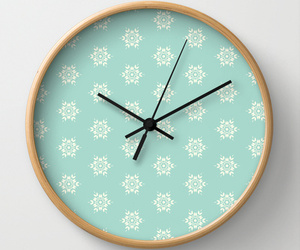 blue, clock, and pattern image