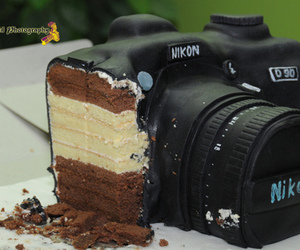 canon, nikon, and chocolate image