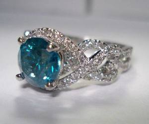 diamond, blue, and ring image