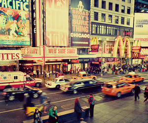 city, new york, and McDonalds image