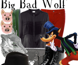 bad wolf, disney, and 3 little pics image