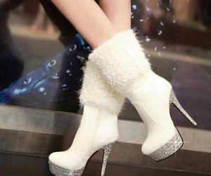 boots, white, and love them image