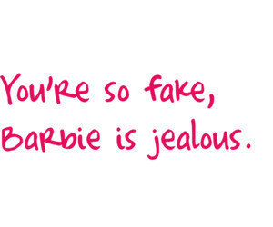 barbie, fake, and quote image