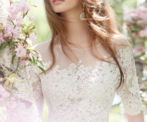dress, wedding dress, and model image