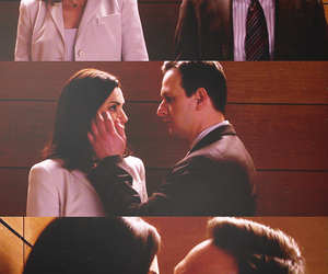 elevator, kiss, and the good wife image