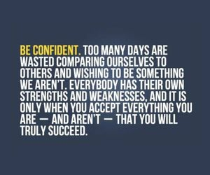 confident and quote image