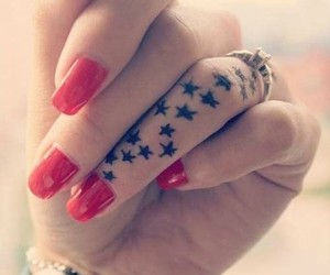 tattoo, stars, and nails image