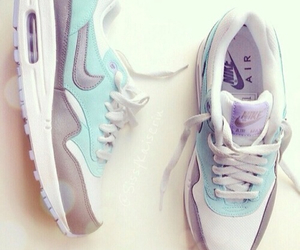 nike, air max, and blue image