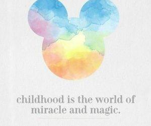 disney, childhood, and magic image