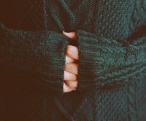 sweater, hands, and green image