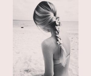 beach, bikini, and braid image