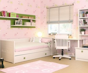 bedroom, girl, and pink image