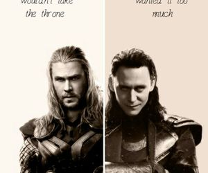 thor, loki, and chris hemsworth image