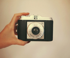 camera, red, and girl image