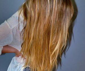 long, straight, and blonde image