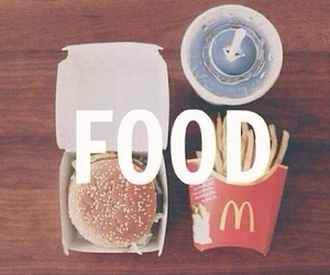 cheeseburger, coca, and fries image