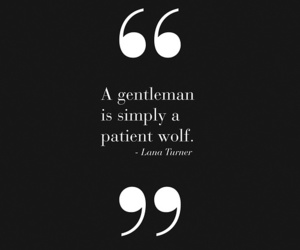 quote, gentleman, and wolf image