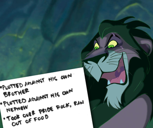 disney, scar, and villain image