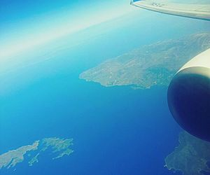 airplane, blue, and deep image