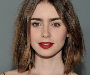 eyebrows, girl, and lily collins image
