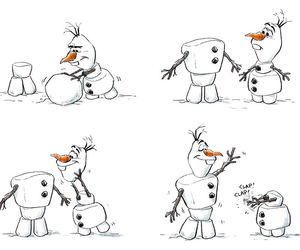 olaf, frozen, and disney image