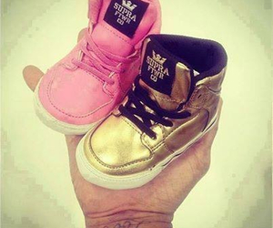 baby, shoes, and pink image