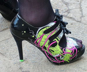 shoes, iron fist, and heels image