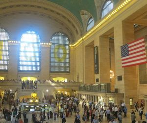 new york, trainstation, and travel image