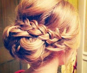 braid, hairstyle, and Prom image
