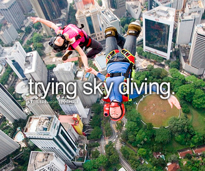 sky diving, fun, and funny image