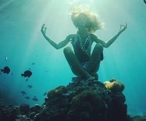 ocean, sea, and fish image