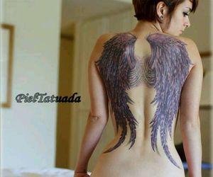 Alas, tatuaje, and Espalda image